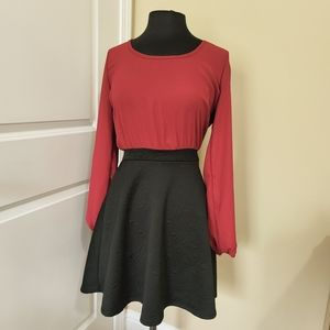 Rue 21 Bow Back Red and Black Dress